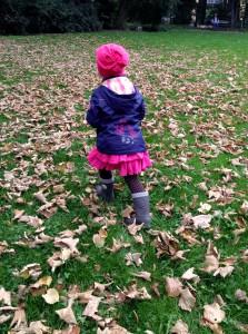 Blättersammeln