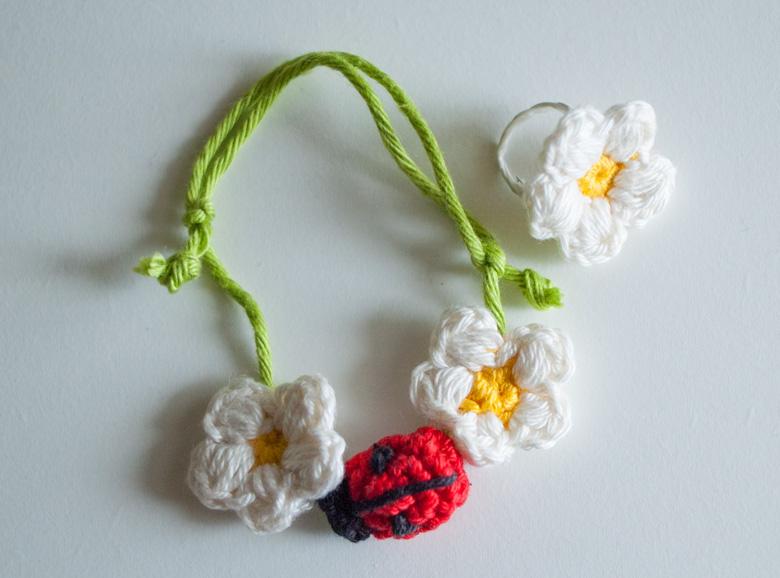 Blumen-Schmuck-Armband-Ring